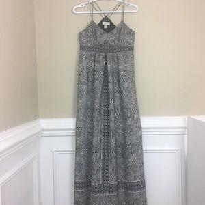 Loft spaghetti straps empire waist maxi dress 0